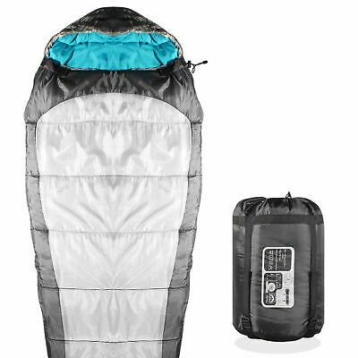 Mummy Sleeping Bag For Hiking Camping & Outdoor Activities - 3 Season