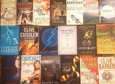 Wholesale Job lot of 100  Fiction Mixed Books, Best Selling Used Book Free P & P
