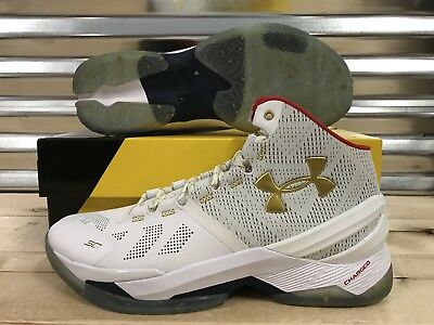 e9052f7a195 Under Armour Curry 2 All-Star Game Basketball Shoes White Gold SZ 259007-102  Men s Shoes