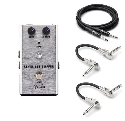 New Fender Level Set Buffer Guitar Pedal! FREE Hosa Cables!
