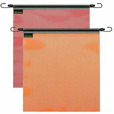 Safety Flags with Heavy Duty Stretch Cords for Trucks or Trailers