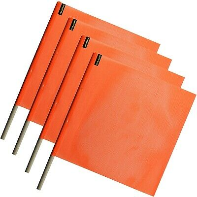 Vulcan Brands Bright Orange Safety Flag With Dowel For Oversized and Wide Loads