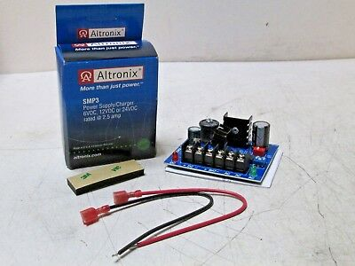 New Altronix SMP3 Power Supply/Charger 6VDC 12VDC 24VDC. 2.5 ampFree Shipping