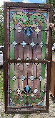 Large Stained Glass Double Hung Window