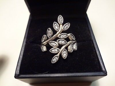 #399 Vintage Ale-925 Sterling Silver Ring -Size-8- Beautiful Old Sterling