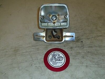 1980 Suzuki Gs550E Rear Tail Light, Housing And Plate Mount 35715-34