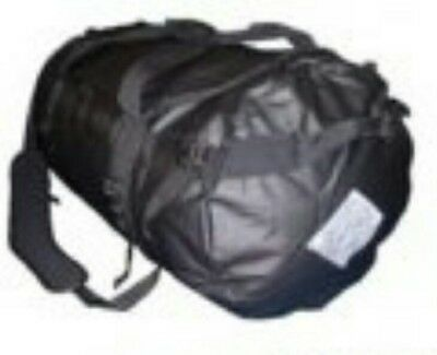 Tas 70Lt Pvc Duffle Bag Black - Pack Shoulder Straps - Sbs Zip / Utx Buckles