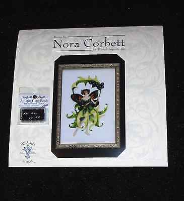 NEW! Nora Corbett INKBERRY HOLLY Pattern and Beads FAIRY Pixie Blossoms