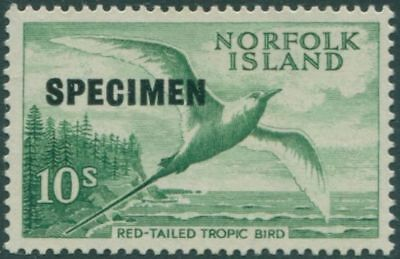 Norfolk Island 1960 SG36s 10/- green Red-tailed Tropic Bird SPECIMEN MLH