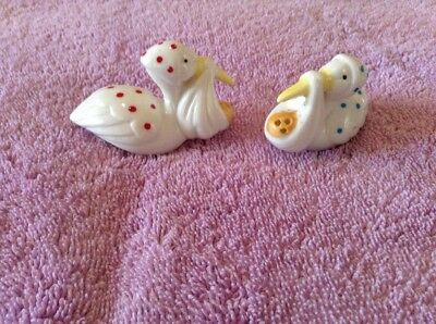 stork with baby salt and pepper shakers