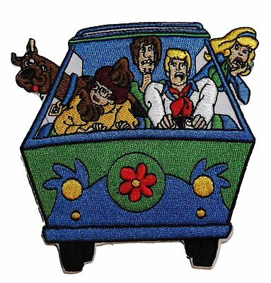 "4"" cartoon scooby-doo in the Myster Machine Embroidered Iron On / Sew On Patches"