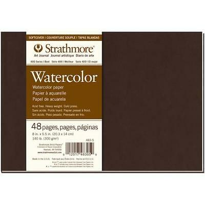 "Strathmore Softcover Watercolour Journal 8""x5.5"" - 24 Sheets 140lb #62483500"