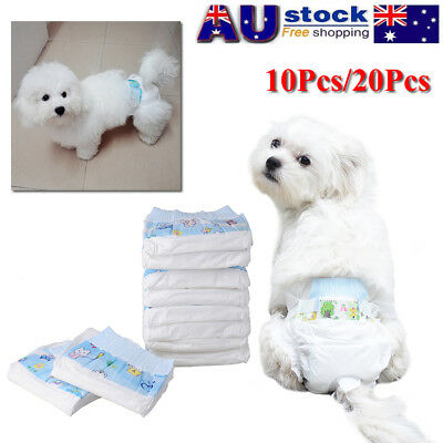 AU! Lot Puppy Pet Dog Disposable Travel Diapers Nappies Underwear Sanitary Pants