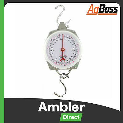 AgBoss Mechanical Hanging Clock Face Weight Scales Butchering 50kg , 100kg