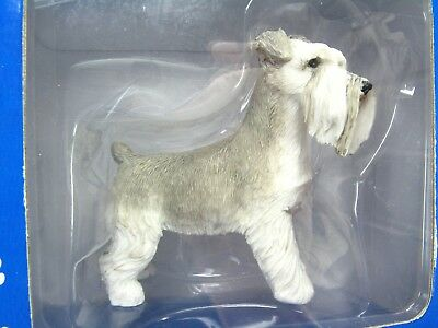 "NEW SCHNAUZER Grey Gray White DOG Figure - SS14104 SANDICAST IN BOX - 3"" Tall"