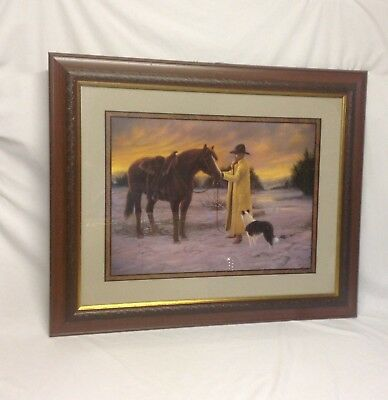 """Home Interior Homco """"Beautiful """"Daybreak on the Ranch""""Picture""""Designers Series"""""""