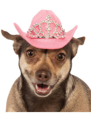 Pet Dog Pink Cowboy Hat With Tiara Costume Accessory