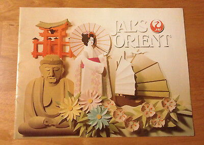 Vintage JAL Orient Japan Air Lines Travel Booklet Brochure Aviation Collectible