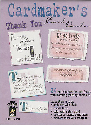 "Cardmaker's ""THANK YOU"" Card Quotes CARDMAKING"