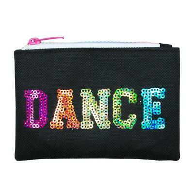 NEW Pink Poppy Black Sequinned Dance in Style Zipped Coin Purse