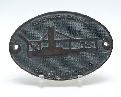 Brass Canal Plaque Erewash Canal Head of Navigation 4.5""