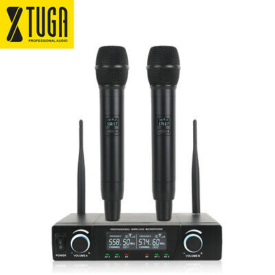 XTUGA E220 Wireless Microphone XIAO MI UHF 2 Channel Cordless System Whole Metal