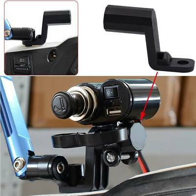 Motorcycle Rearview Side Mirror Extender Bracket For Phone Holder Mount Clamp