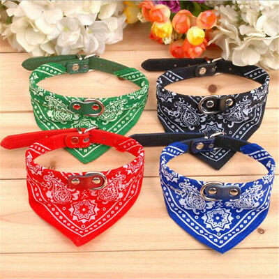 Pets Dog Collar printed fashion Pet Supplies Scarf Dogs Cat Collar Leather Neck