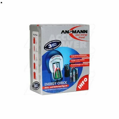 Ansmann Battery tester Energy Check for AAA AA C D & 9V Indicator in 25% steps