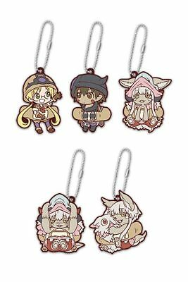 Made in Abyss Mascot Swing PVC Rubber Keychain Riko Reg Nanachi Mitty ND71028