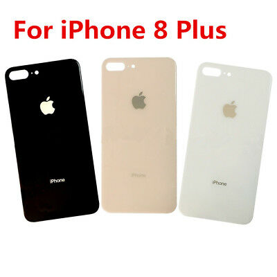 For iPhone 8 Plus Back Door Battery Glass Rear Cover Case Replacement