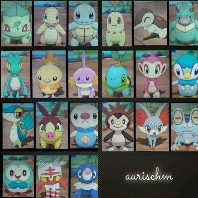 Pokemon all 21 shiny starters 6IVs ultra Sun/Moon trade 3DS game