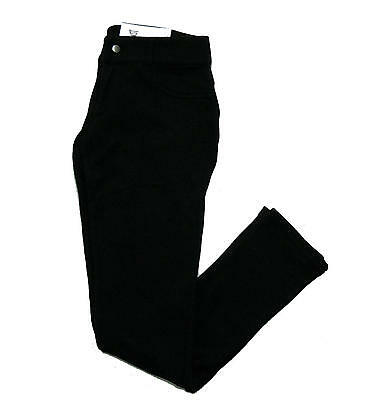 Trousers cotton EVERLAST woman tight pockets fake with tears spring black