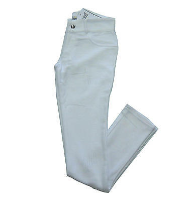 Trousers cotton EVERLAST woman tight pockets fake tears spring white