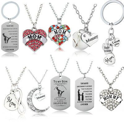 Gifts For Her Mom Women Silver Necklace Bracelet Mothers Day Birthday New