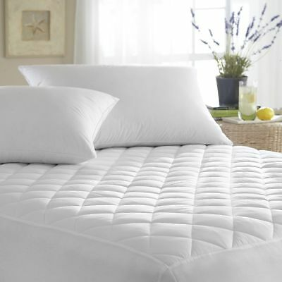 Quilted Waterproof Hypoallergenic BedBug Mattress Pad Cover Protector FS