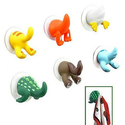 Lovely Animal Tails Hooks Hanger Kitchen Shower Cloth Towel Suction Cup Durable