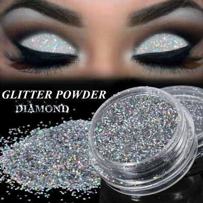 3g 0.4MM Trucco Ombretto in polvere pigmento donne Argento Glitter Eye Make Up