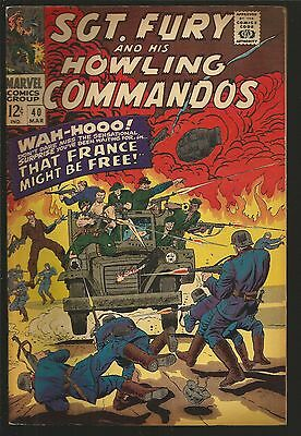 Sgt. Fury #40 (Mar 1967, Marvel)That France  might be free, jk