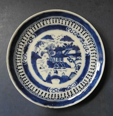Chinese Blue & White Porcelain Small Plate (2) - Late 18Th / Early 19Th Century