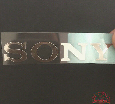 1x  Sony Silver Logo Sticker Tvs Play Station 30mm x 5mm Approx