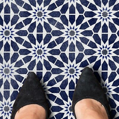 MZOURA Moroccan Hexagon Tile - Furniture Wall Floor Stencil for Painting
