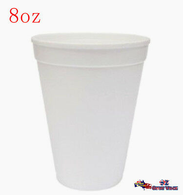 Bulk Disposable Foam Cups 8oz Coffee Tea Cup Hot Cold Drink Birthday Party