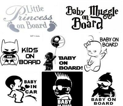 Baby On Board Funny Cute Star Wars Car Decal Vinyl Sticker For Bumper Various UK