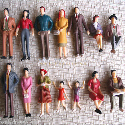 42 pcs G Scale 1:32 Painted Figures People passenger 14 different poses #F