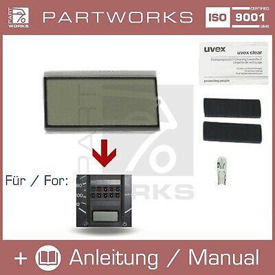 Lcd Reparatur Display F. Vw Golf Mk1/2 I/Ii Kombiinstrument/Tacho Digitaluhr/Uhr