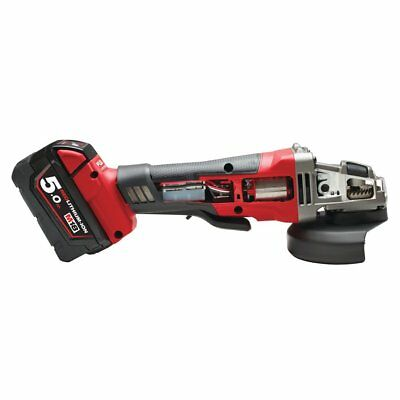 Milwaukee M18 CAG125XPD FUEL™ cordless angle grinder,with 2x5,0Ah Battery,