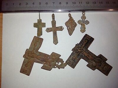 ancient crosses. 4 crosses and two broken ones.19th century