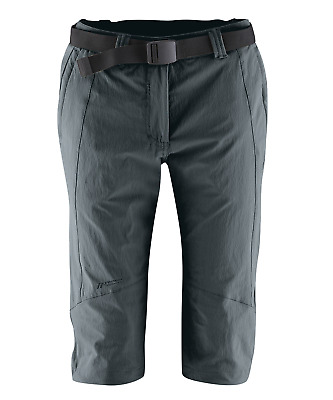 Maier Sports Kluan - Damen Freizeit Caprihose - Outdoorhose -Graphite - 231003