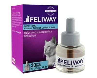 Feliway Diffuser Refill - 30 days Artificial pheromone Calms Cats 48ml